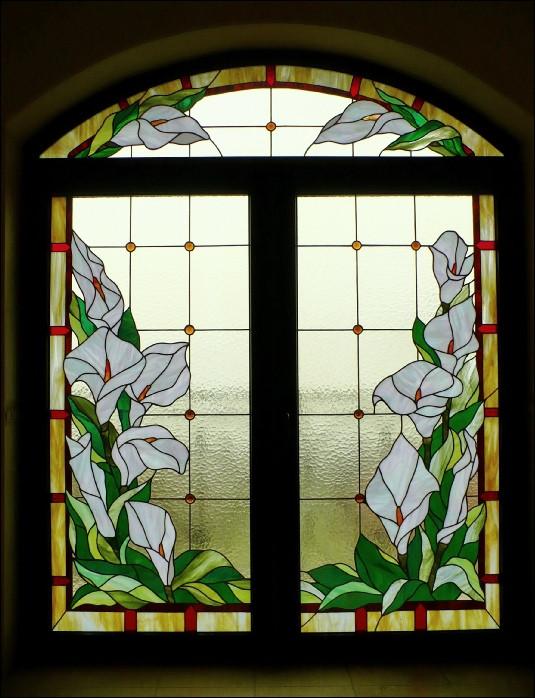vitraliu floral